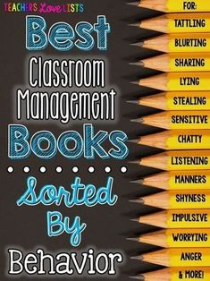Best Classroom Management Books sorted BY Behavior - amazing list of behavior management and character education books sorted BY the behavior - amazing resource for teachers!