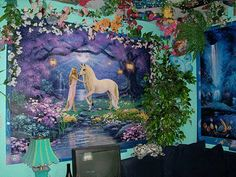 Princess Decorating For a Fairytale Bedroom Fairytale Bedroom, Forest Bedroom, Woodland Bedroom, Fairy Bedroom, Fantasy Bedroom, Unicorn Bedroom, Unicorn Wall, Bedroom Themes, Bedroom Decor