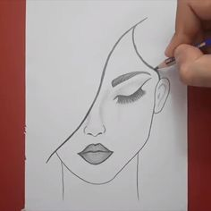 beautiful girl face sketch easy hope you like this video - Art Sketches 3d Art Drawing, Art Drawings Sketches Simple, Girl Drawing Sketches, Cute Easy Drawings, Girly Drawings, Art Drawings For Kids, Face Sketch, Pencil Art Drawings, Easy Sketches To Draw