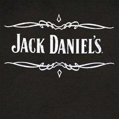 Jack Daniels Whiskey Scroll Logo Black Graphic T Shirt