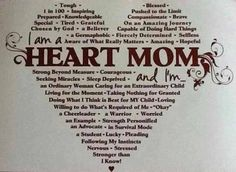 "I'm proud to be a HEART MOM Lenora has been through so much. She did get a heart transplant.       ""Yep, that's me. I could not be more proud of my hero, Alexis, HLHS, Heart Transplant."""
