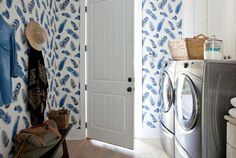 hgtv dream home 2017   The blue-and-white laundry room also features a gorgeous patterned ...