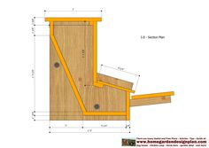 - Automatic Chicken Feeder Plans Construction - How To Build A Chicken Feeders . Units: Inches - fractions Area for construction. Easy Chicken Coop, Chicken Coup, Chicken Feeders, Chicken Coop Designs, Small Chicken, Backyard Chicken Coops, Chickens Backyard, Wooden Compost Bin, Automatic Chicken Feeder