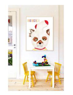 Fantastic Mr Fox: PRINTABLE FILE 3 versions, wes anderson, Ash fox, nursery art, kids room decor, childrens room, fox print, roald dahl by TheOrangePress on Etsy https://www.etsy.com/listing/230342153/fantastic-mr-fox-printable-file-3