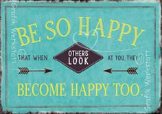 Be so Happy - Postkarten - Grafik Werkstatt Bielefeld