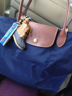 Duck boot keychain and longchamp