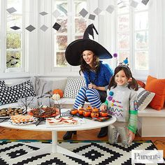 Halloween Ghouls' Night In Party Ideas: Gather the neighborhood kids for some pre-trick-or-treating fun. Eat, drink, and be scary!