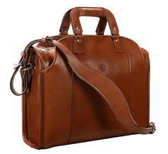 """Handmade Leather Briefcase - Messenger Bag - Laptop Bag.  Hand-burnished, espresso Deal Bag; 17 x 12 x 5""""    www.glaserdesigns.com  glaserdesigns.wordpress.com"""