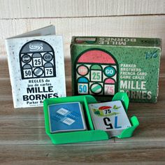 Mille Bornes 1962 French card game Parker Brothers
