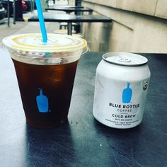 @bluebottle coffee's newly-released #coldbrew does not disappoint! I had to get one for now and one for later- how could I pass up on the cute can?  Ingredients: water coffee time  by katieannduff