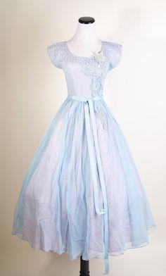 1940s pale blue prom/wedding dress