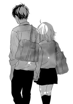 Strobe Edge Manga, Otaku, Romantic Anime Couples, Blue Springs Ride, Manga Poses, My Little Monster, Manga Couple, Strobing, Manga Drawing