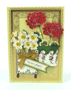 Anna Griffin Flower Pot Decoupage Die Cuts