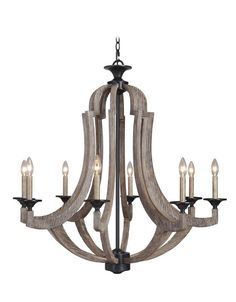 View the Jeremiah Lighting 35128 Winton Single Tier 8 Light Candle Style Chandelier - 36 Inches Wide at LightingDirect.com.