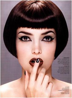 bob cut with short bangs