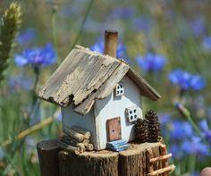 Driftwood House Ornament Wooden Decor Little Wooden House
