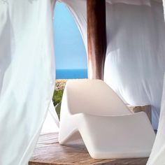 Shop for Amod Copacabana Sunlounger Chaise Lounge White to match your style and budget at CozyDays Lombok, Outdoor Furniture, Outdoor Decor, Contemporary, Modern, Future House, Sun Lounger, Chaise Lounges, Patio