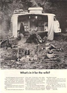 What's in it for me? :) Vintage VW camper ad.