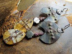 anunnaki  primitive metalwork fantasy earrings by nusquam on Etsy, $51.00