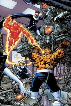 Fantastic Four - George Perez Remastered Color Variant Cover Comic Book Artists, Comic Book Characters, Marvel Characters, Comic Character, Comic Books Art, Comic Art, Xman Marvel, Hq Marvel, Marvel Comics Art