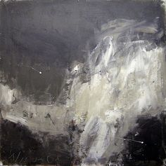 Black and white abstract painting.