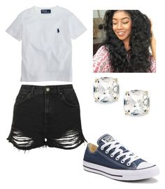 """Navy blue is so cute "" by brejeasmith on Polyvore featuring Topshop, Ralph Lauren, Kate Spade and Converse"