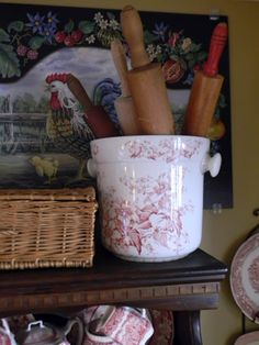 Nancy's Daily Dish: Decorating with Transferware Slop Pails