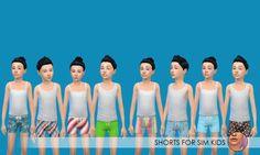 Sims New, Short Girls, Party Wear, Blazers, Mesh, Unisex, Shorts, Female, Boys