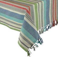 Mediterranean Stripe Tablecloth