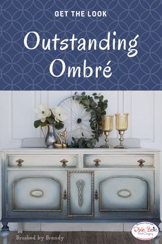 Ombré furniture is easy to do when you have the right supplies! Shop Dixie Belle for your paint, brushes, and everything else you need to complete your project! Shabby Chic Rug, Shabby Chic Homes, Shabby Chic Furniture, Upcycled Furniture, White Painted Furniture, Chalk Paint Furniture, Furniture Board, Furniture Design, Diy Furniture Renovation