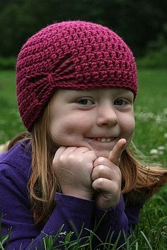 Free Butterfly crochet hat pattern.  Put a large sparkly button where it pulls together for a more vintage look
