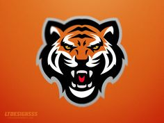 Tiger designed by Lia Tanasa. Connect with them on Dribbble; Panther Logo, Tiger Logo, Brand Identity Design, Logo Design, Branding Design, Ink Logo, Lion Head Tattoos, Photo To Cartoon, Examples Of Logos