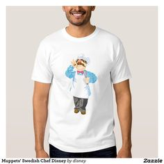 El cocinero sueco Disney de los Muppets Remera. Regalos, Gifts. #camiseta #tshirt