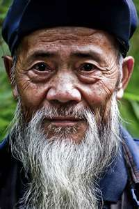 I love the character in this man's face, we met him at the Panda reserve in Ya'an - he was very happy