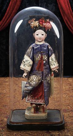 The Lifelong Collection of Berta Leon Hackney: 29 Japanese Bisque Portrait Doll w/ Elaborate Coiffure & Costume for the French Market