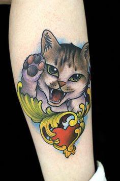 60 tatuagens de gatinhos para quem adora gatos
