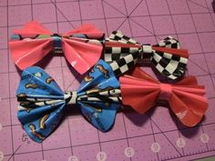 How to make Duct tape Bow hair clips! - YouTube