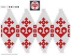 created using Schachenmayr Designer Knit Christmas Ornaments, Noel Christmas, Christmas Knitting, Christmas Balls, Christmas Crafts, Knitting Charts, Knitting Stitches, Knitting Patterns, Crochet Patterns