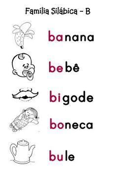 O Mundo da Alfabetização: Silabário - B, C e D