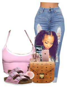 """""""Rosy"""" by rashellehuntley45 ❤ liked on Polyvore featuring MCM, Michael Kors and Birkenstock"""