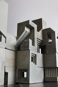 "Soma Cube City III ""Street View"" - Concrete art installation"