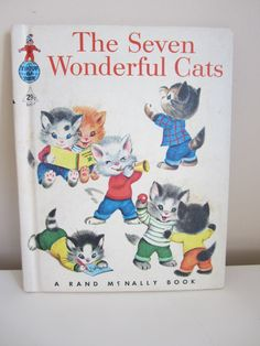 Vintage Book The Seven Wonderful Cats 1956 Elf Book