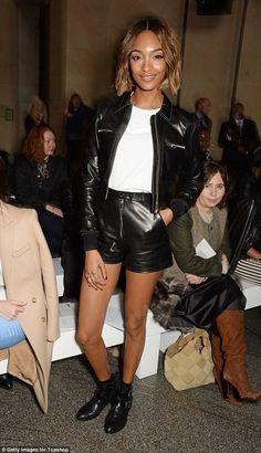 Jourdan Dunn at Topshop's London Fashion Week show - Celebrity Fashion Trends