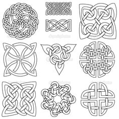 Celtic symbols — Stock Vector © j0hnb0y #