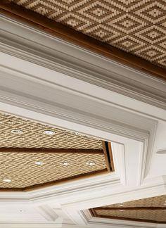"bond | Shangri-La's Mactan Resort & Spa ""TIDES"" All Day Dining - 2014 / Beijing, China Commercial Interior Design, Commercial Interiors, Ceiling Decor, Ceiling Design, Floor Design, House Design, Diy Room Divider, Ceiling Treatments, Ceiling Detail"