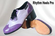 Miller & Ben Tap Shoes: Rhythm Heels Pro - Custom Colors: Purple & Baby Purple