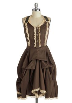 Victorian Steampunk Clothing- Off to Oamaru Dress from ModCloth $69.99 #steampunk