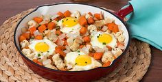 Try this veggie hash with whatever you've got in your fridge--but don't forget the onions!