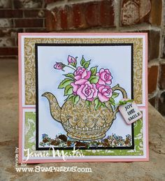 W140 Teapot Posies by Stampendous - Google Search