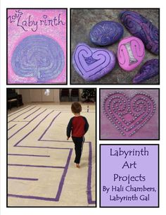 Labyrinth Arts Projects: pdf instant download painting projects, finger labyrinths, and how to design your own labyrinths. Also included are original designs of: heart labyrinth, ocean labyrinth, butterfly labyrinth & 4-leaf clover labyrinth.